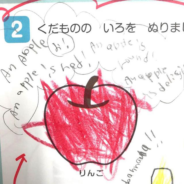 リンゴのプリント